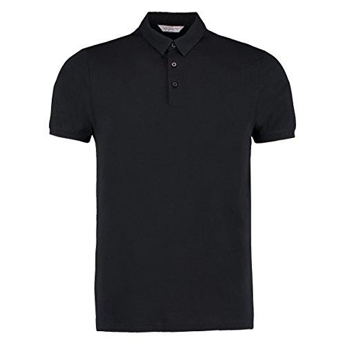 Bargear Herren Jersey Polo-Shirt Berufsbekleidung für den Gastronomie Bereich (XXL) (Schwarz)