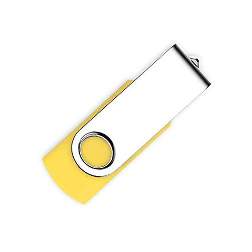 PULABO Rotativa 8 GB USB Flash Drive Memory Stick USB 2.0 Pen Drive Plegable Metal Flash Drive USB Amarillo Nuevo lanzado y Popular Exquisita Artesanía
