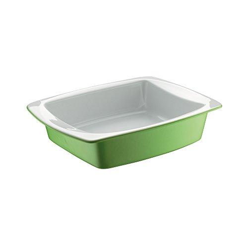 Berndes Auflaufform, Keramik beschichtet, Grün, 28 x 21,5 cmhellgrün/weiß