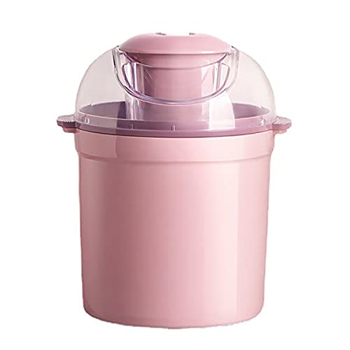 ChengBeautiful Máquina para Hacer Helados Máquina De Helados Casa Pequeña Mini Máquina De Helados Caseros Cono De Fruta Máquina De Helado (Color : Pink, Size : 22x22x26.5CM)