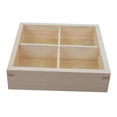 Bowl Wooden nut Box, Creative Living Room Dried Fruit Plate, Compartment Storage Melon Tray Household Tableware, Retro Bowl