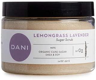 Pure & Gentle Exfoliating Sugar Scrub by DANI Naturals - Calming Lemongrass Lavender Scented Body Polish - Organic Cane Sugar & Natural Moisturizing Shea Butter - 14 Ounces