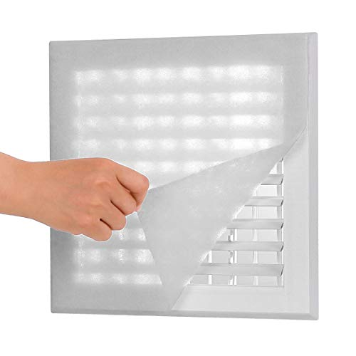 Lisol Complete Air Vent Filters Kit- 98'' x 18'' Electrostatic Media With 157'' of Installation Tape 36+ Filters per Roll for HVAC, AC & Heating Intake Registers & Grilles