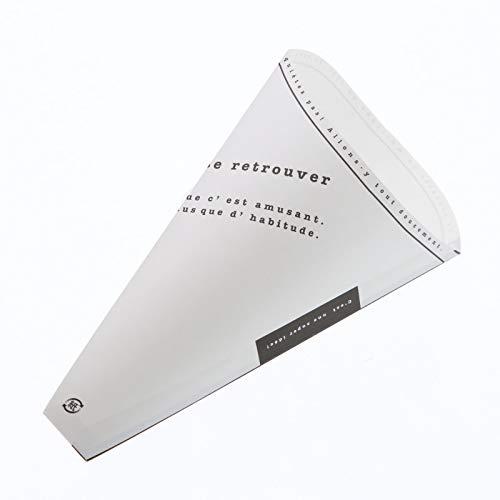 【イベント 文化祭 お祭り用】クレープ三角袋 アミューズ 100枚