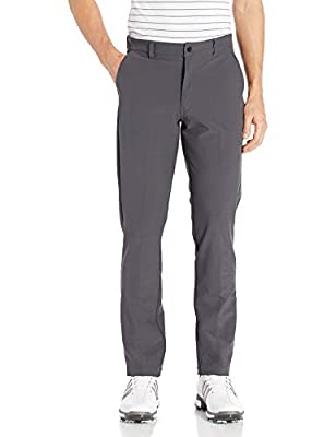 Hawke & Co Men's Motion Fit Performance 4 Pocket Quick Dry and Moisture Wicking Pants for Golf, Hiking, or Fishing, Ebony, 30x30