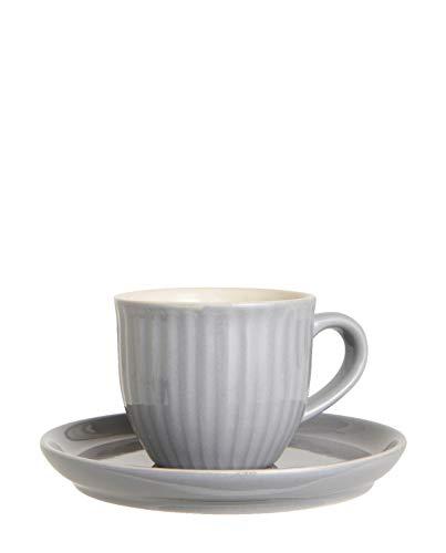 Ib Laursen Mynte Tasse & Unterteller french grey