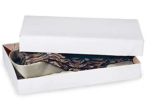 A1BakerySupplies® Men Shirt Box Women Top Box Gift Boxes Wrap Boxes Apparel Gift Boxes with Lids 5 Pack (White)