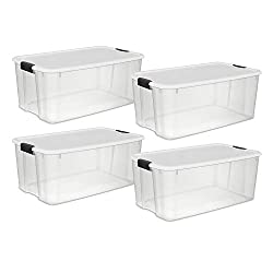 large clear storage totes