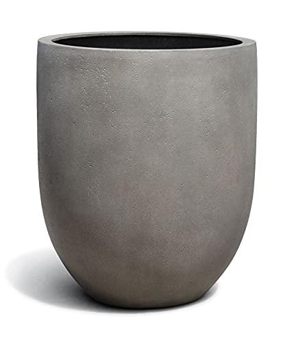 VAPLANTO® Pflanzkübel Tall Egg Pot 50 Beton Grau Rund * 52 x 52 x 61 cm * 10 Jahre Garantie