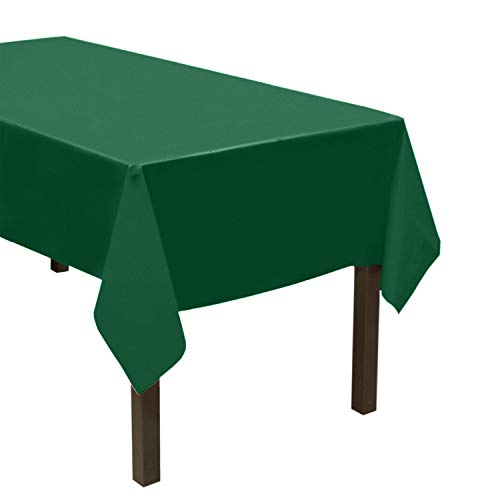 """Party Essentials VM54108HG ValuMost Disposable 54"""" x 108"""" Plastic Rectangle Table Cover/Tablecloth Available in 22 Colors, 1-Count, Hunter Green"""