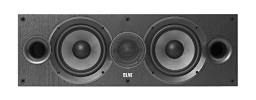 ELAC Debut C6.2 - Altavoces centrales, Color Negro