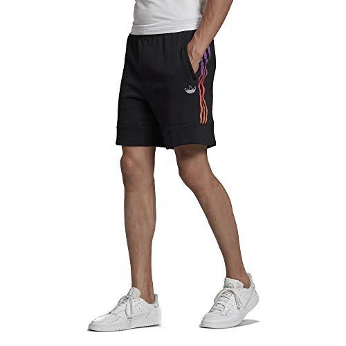 adidas Originals Pantalones cortos deportivos para hombre - negro - XX-Large
