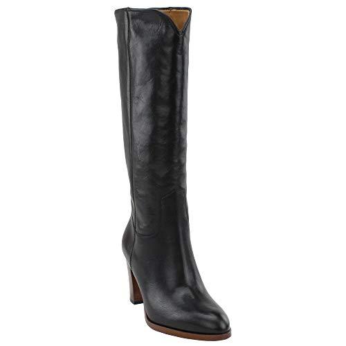 Frye Womens June Tall Black Casual Dress Boots Boots 10