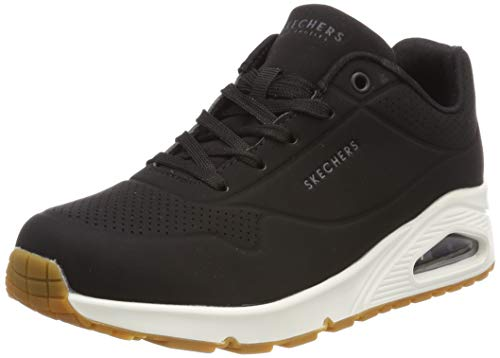 Skechers Women's Uno -Stand On Air Trainers, Black (Black Blk), 7 UK (40 EU)
