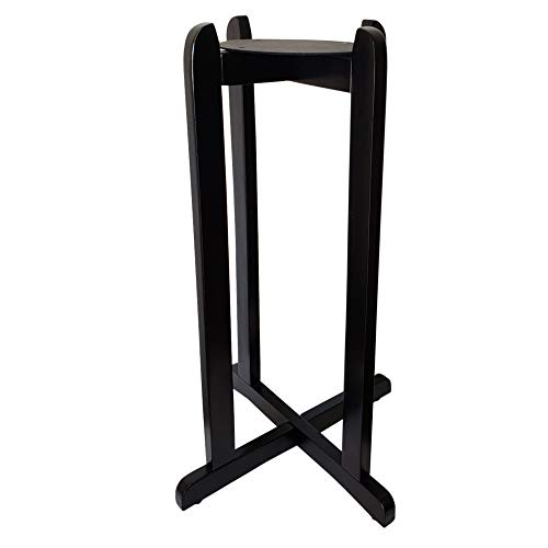 30' Water Dispenser Floor Wood Stand - Painted Black - Use for Plants, Crocks and More