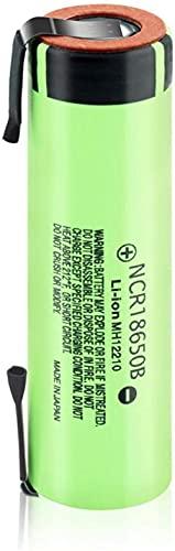 3.7V 3400Mah Baterías De Iones De Litio 18650 Nuevas Baterías Recargables De Litio 20A con Pestañas De Níquel-1Pcs