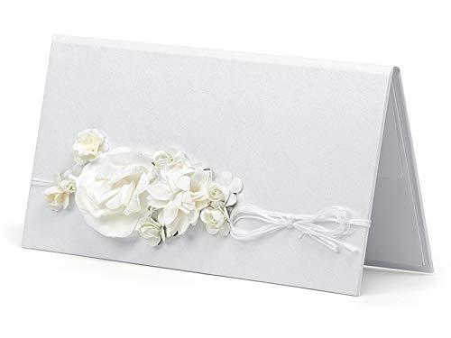 jakopabra Elegantes Etui für Geldgeschenke zur Hochzeit Verschiedene Designs (crèmefarben elegant mit Schnur)