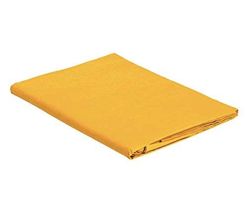 Italian Bed Linen Max Color Telo Copritutto in Tinta Unita, 100% Cotone, Senape, Singolo, 170 x 300 cm