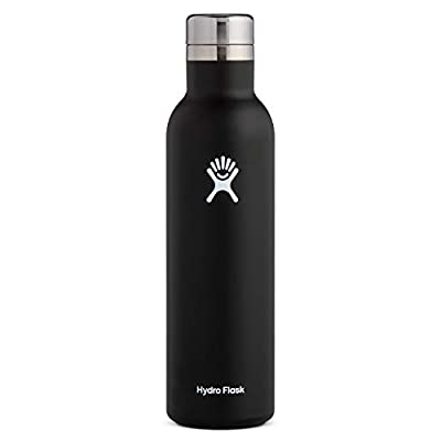 Hydro Flask 25 oz Wine Bottle - Stainless Steel & Vacuum Insulated - Leak Proof Cap - Multiple Colors