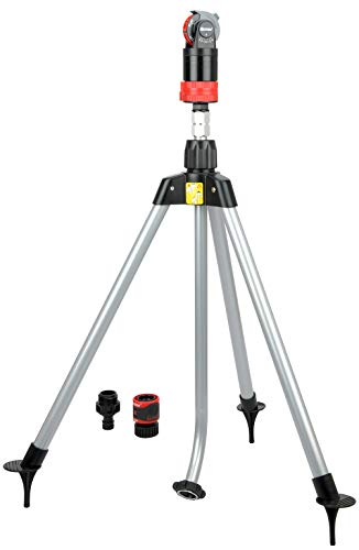 Eden 11530 Multi-Pattern Turbo Gear Drive Metal Tripod Sprinkler Plus Misting System w/Quick...