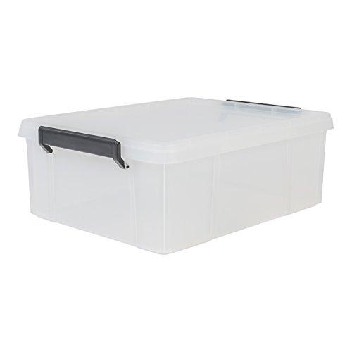 IRIS 135627, Aufbewahrungsbox / Kiste mit Deckel / Stapelbox 'Multi Box', MBX-18, Kunststoff, transparent, 18 L, 45,3 x 34,8 x 16,5 cm