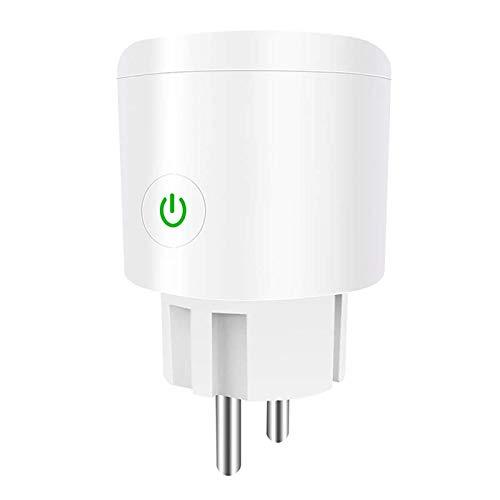 CAMPSLE WiFi Enchufe Inteligente 16A 2300W Mini Smart Plug Funciona, funciona con dispositivos domésticos inteligentes, control remoto por voz, salida inalámbrica, función de temporizador, 1 piezas