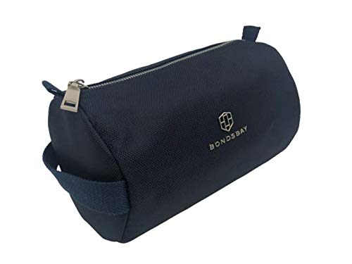 Bondsbay - Model One Business - toilettas, toilettas, washbag van marineblauwe stof. 22 x 14 x 14 cm. Waszak voor dames en heren. Toilettas make-up tas met twee binnenzakken