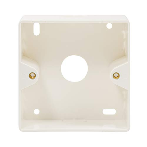 LogiLink Professional NP0221 Aufputzgehäuse (Aufputzrahmen) für Unterputzdosen, Macht aus Unterputzdosen Eine Aufputzversion