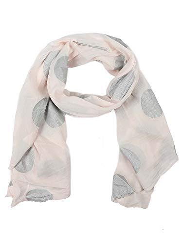 Zwillingsherz Seiden-Tuch mit Point-Print - Hochwertiger Schal für Damen Mädchen - Halstuch - Umschlagstuch - Loop - weicher Schlauchschal für Sommer Herbst und Winter von Cashmere Dreams rosa