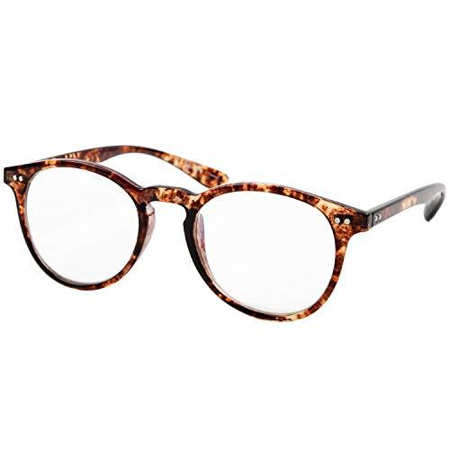 デューク 老眼鏡 ブルーライトカット 1.5 度数 プラスチックフレーム ブラウンデミ VTG-173-2 +1.50