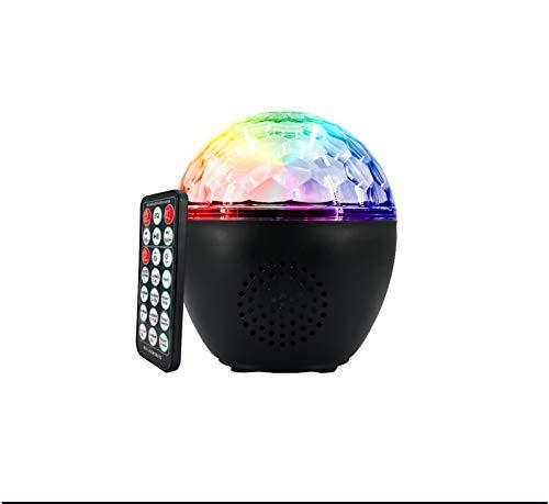 JXBH 16 Farben Sound Activated Disco Ball Light, Ferngesteuerte Tanzlichter Einstellbare Lichthelligkeit Rotationsgeschwindigkeit Für Partys