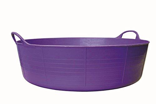 Decco Tubtrugs Baquet Flexible à 2 anses en matériaux recyclés Violet Taille L 35l