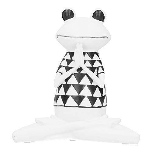 Weiß Schwarz Yoga Action Shape Figuren Craft Figur Dekor mit rutschfestem Pad Home Decoration Wohnzimmer Bücherregal für TV-Schrank(BS-959)