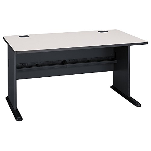 Bush Business Furniture Series A 60W Desk in Slate and White Spectrum