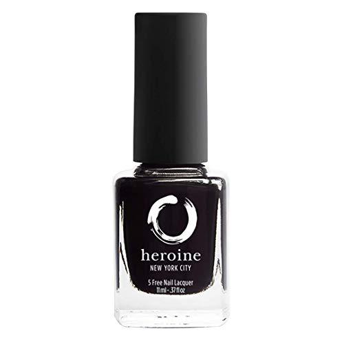 heroine.nyc Black Creme Nail Polish in Lights Out - .37 fl. oz....