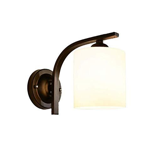 Nordic eenvoudige slaapkamer bedlampje woonkamer behang wandlamp gang gang gang verlichting spiegel voorlamp E27 lichtbron energie savin