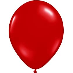 "9"" Ruby Red Balloons"