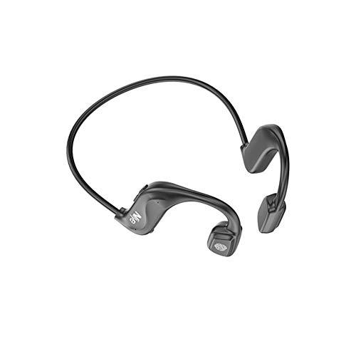 XJPB Auriculares de conducción ósea, Auriculares de Oreja Abierta, con la funciónTouch Bluetooth 5.0, con micrófono sudorable Adecuado para Deportes al Aire Libre