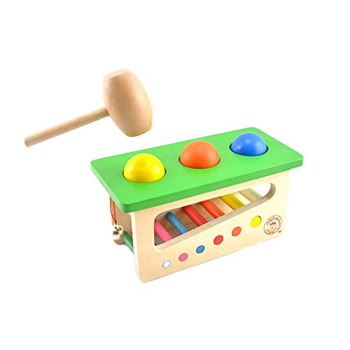 Vovotrade® Tap Bench Xylophone Durable Bois Musical Jouet Jouet Tout-Petits Multifonctions Wooden Musical Pounding Toy Toddlers Multifunctiona (Multicolor)