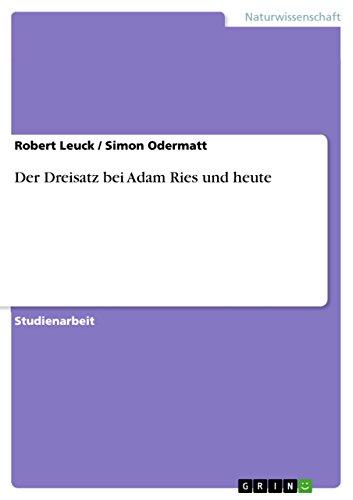 Der Dreisatz bei Adam Ries und heute