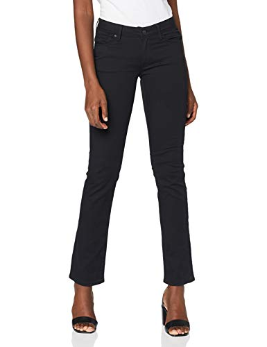 Mavi Olivia Damen Straight Jeans ,Schwarz (Double Black Str 23746),W27/L30