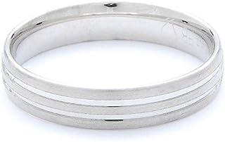 Breuning Matte & Shiny Finish Platinum 600 Wedding Ring [BR7142-2]