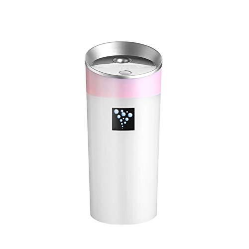Ansiktsspruta bärbar mini skrivbord negativ jon aromaterapi luftrenare luftfuktare USB eterisk oljet diffusor hudvård hem spa fuktgivande (Color : Pink)