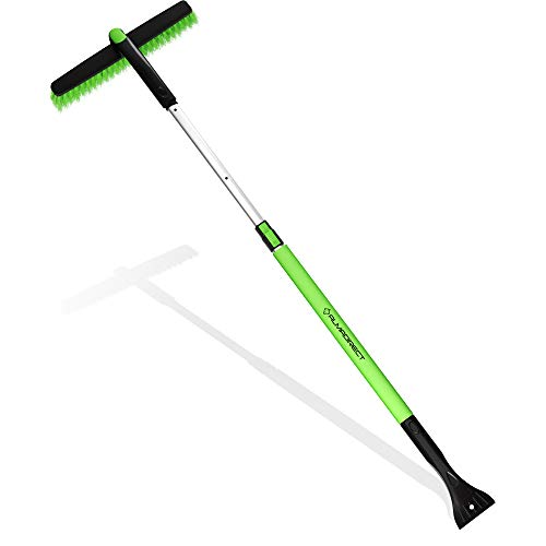 Almadirect 50  Snow Brush Extendable with Ice Scraper & Telescopic Long Handle - no Scratch Brush Winter Snow Removal Tool - Windshield Ice Remover for Car Auto Truck SUV Windows