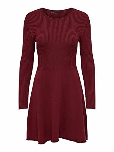 ONLY Damen Kleid ONLAlma 15185761 Merlot L