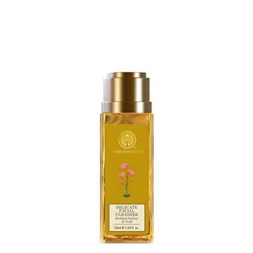 Forest Essentials Travel Size Delicate Facial Cleanser Kashmiri Saffron & Neem 50ml (Face Wash)