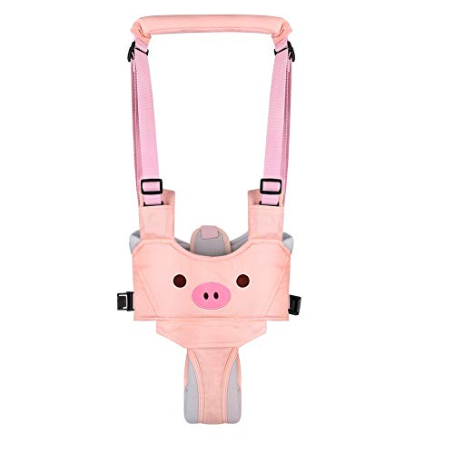 Accmor Baby Harness for Walking, Baby Toddler Walking Assistant, Adjustable Baby Walking Harness Handheld Baby Walker, Stand Up & Walking Learning Helper Walker Wings for Infant Child (Pink Pig)