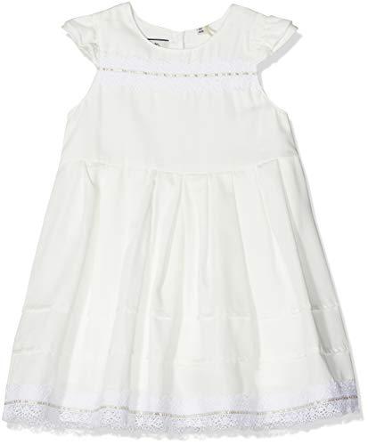 Sanetta Baby-Mädchen Dress Kleid, Beige (Ivory 1829), 86 (Herstellergröße: 086)