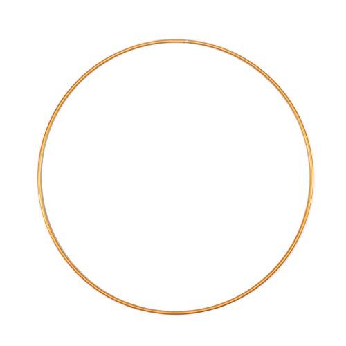 Vaessen Creative 11015-001 Metallring, Gold, Spannring Ø 25 cm aus 3 mm Metalldraht zum Traumfänger Basteln, Makramee Knoten, Mandala Häkeln sowie Gestalten weiterer Wanddeko und Fensterdeko, 25