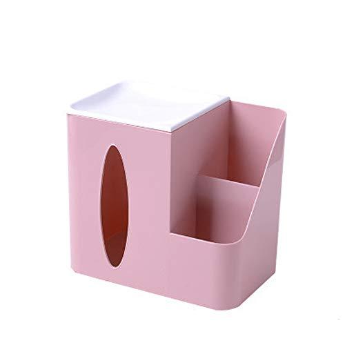 zhppac Organiseur De Bureau Organiseur Bureau Salle de Bains De Stockage Boîtes Salle de Bains Organisateurs Boîte De Rangement en métal Pink